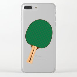 One Table Tennis Bats Clear iPhone Case