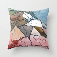rocky Throw Pillows featuring Rocky by Tonya Doughty