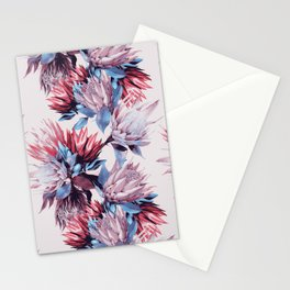 King proteas bloom Stationery Cards