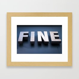 FINE art Framed Art Print