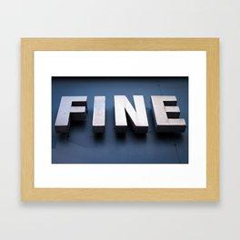 FINE art Framed Art Print