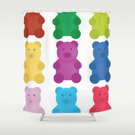 Colorful Gummy Bears Shower Curtain