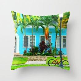 #side street still life miami Throw Pillow