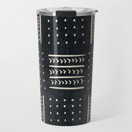 Mud cloth in black and white Travel Mug