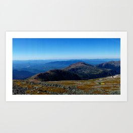 Cog Railway on Mount Washington Art Print