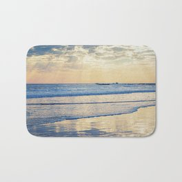 A Message From Above God Rays on Cayucos Beach Bath Mat