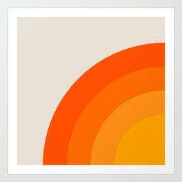 Sunrise Rainbow - Left Side Art Print