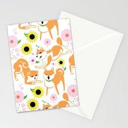 Spring Shiba Stationery Cards