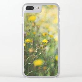 Dandelion flowers Clear iPhone Case