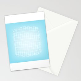 Warped in Blue Stationery Cards