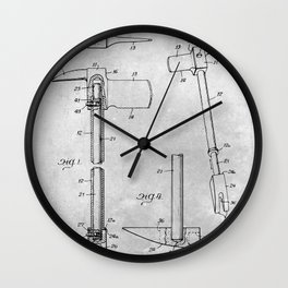 Forcible entry tool Wall Clock
