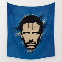 house Wall Tapestries featuring House by Durro