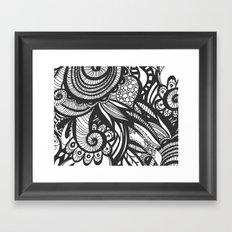 BW Doodle Art Framed Art Print