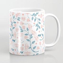 Pink and Blue Flowers Coffee Mug