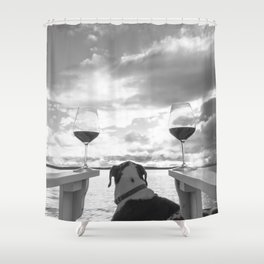 Wine of the Gods Shower Curtain
