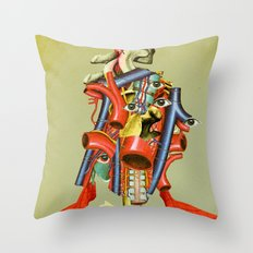 Head of the Organ Throw Pillow