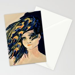 Peacock Girl Variation 1 Stationery Cards