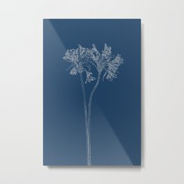 Parrot Lily Blueprint Metal Print