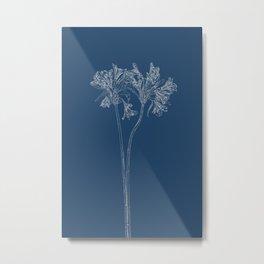 Parrot Lily Blueprint Metal Print