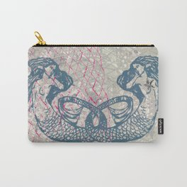 Double Mermaids Carry-All Pouch