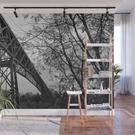 Eiffel. The mystery train bridge. BW Wall Mural