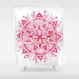 Mandala - Pink Watercolor Shower Curtain