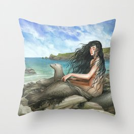Selkie Throw Pillow