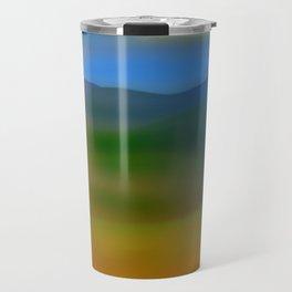 Warm Hillscape Sunset Travel Mug