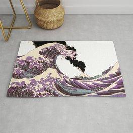 Great Wave Eruption of Fuji-San Rug