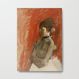 Ballet Dancer with Arms Crossed Metal Print