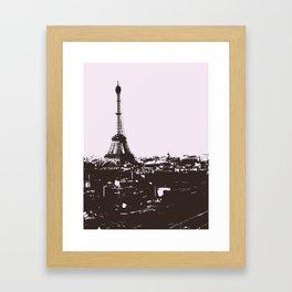 Paris (Black and White) Framed Art Print