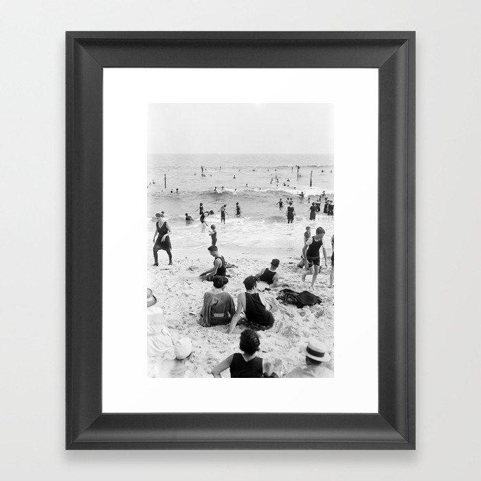 Long Beach California Vintage Photo, 1920s Gerahmter Kunstdruck