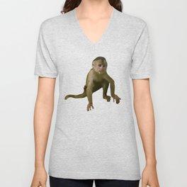 Capuchin Monkey Unisex V-Neck