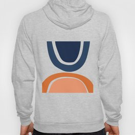 Abstract Shapes 24 in Burnt Orange and Navy Blue Hoody