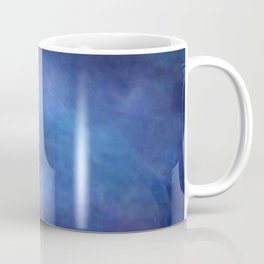 Abstract Soft Watercolor Gradient Ombre Blend 2 Deep Dark Blue and Light Blue Coffee Mug