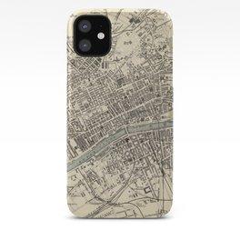 Vintage Map of Glasgow Scotland (1872) iPhone Case