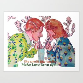 Make Love great again, try Art Print