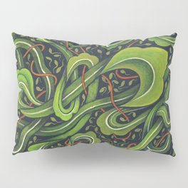 Asian Green Drapes Pillow Sham