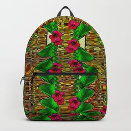 tree flower paradise of inner peace and calm pop-art Backpack