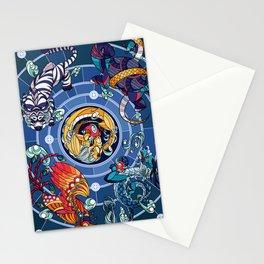 Divided Sky, Benevolent Beasts [Quartet] Stationery Cards