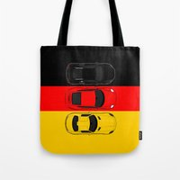 german Tote Bags featuring German Horsepower by Blayde