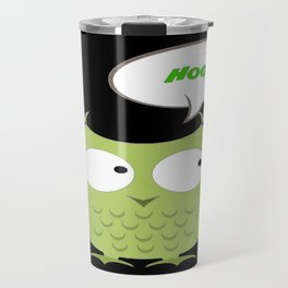 Owl Cartoon - Hoot Travel Mug