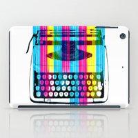 typewriter iPad Cases featuring Typewriter by Elizabeth Cakovan