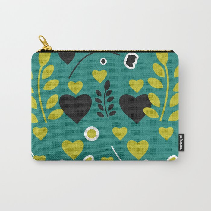 Flowers and hearts Carry-All Pouch