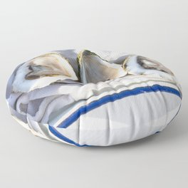 Oysters on Duxbury Bay Floor Pillow