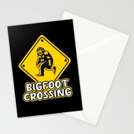Bigfoot Crossing Sign Sasquatch Research Team Stationery Cards