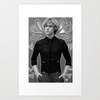 evan peters Art Prints featuring Evan Peters by Claudia