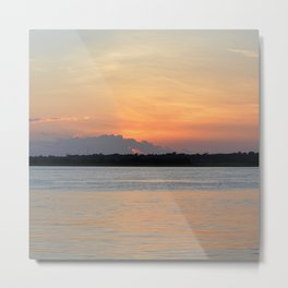 another sunset from Topsail Metal Print