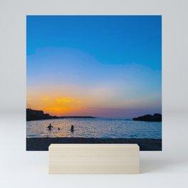 Mediterranean Sunset   Sunset Nature Photography   Nature Landscape photo Art Mini Art Print