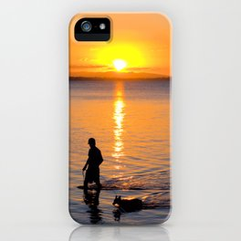 Wading in the Sunset iPhone Case